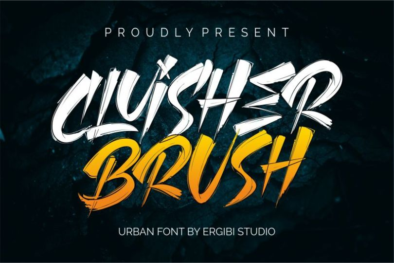 Cluisher Brush [2 Fonts]   The Fonts Master
