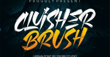 Cluisher Brush [2 Fonts] | The Fonts Master