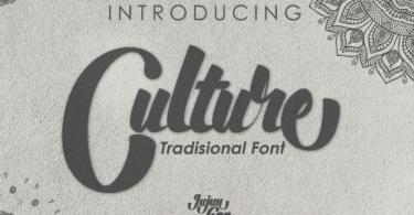 Culture [1 Font] | The Fonts Master