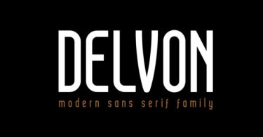Delvon [3 Fonts] | The Fonts Master