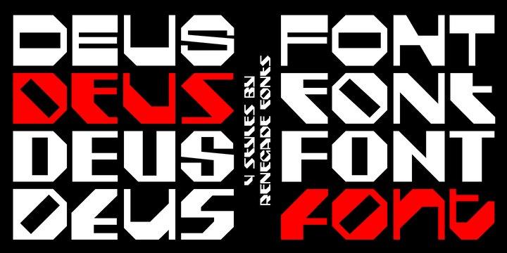 Deus [8 Fonts]   The Fonts Master