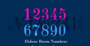 Didone Room Numbers [2 Fonts] | The Fonts Master