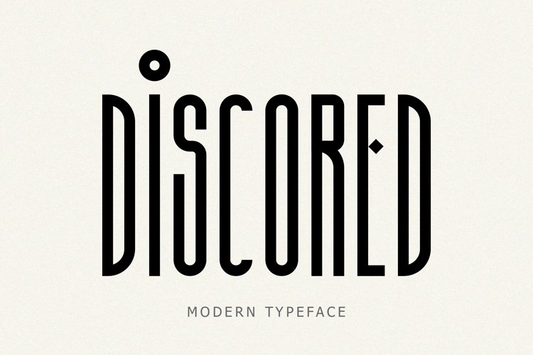 Discored [1 Font]   The Fonts Master