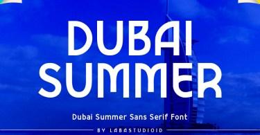 Dubai Summer [1 Font] | The Fonts Master