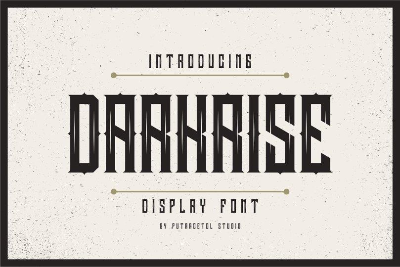 Darkrise [1 Font]   The Fonts Master