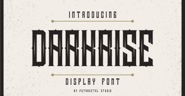 Darkrise [1 Font] | The Fonts Master