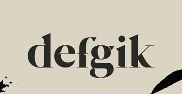 Defgik [1 Font] | The Fonts Master