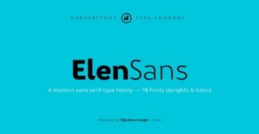 Elen Sans Super Family [18 Fonts] | The Fonts Master