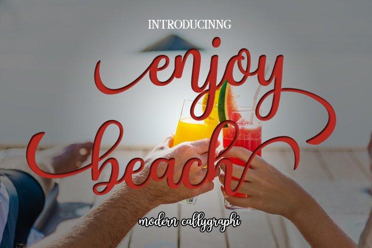 Enjoy Beach [1 Font]   The Fonts Master