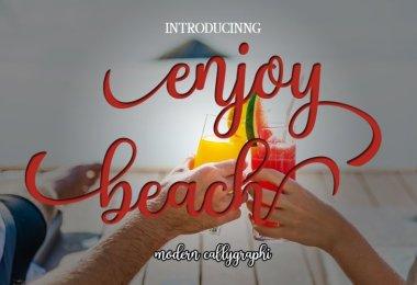 Enjoy Beach [1 Font] | The Fonts Master