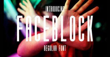 Faceblock [1 Font] | The Fonts Master