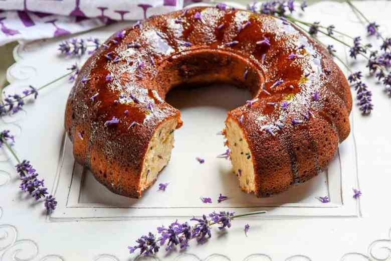Lavender Yogurt Cake