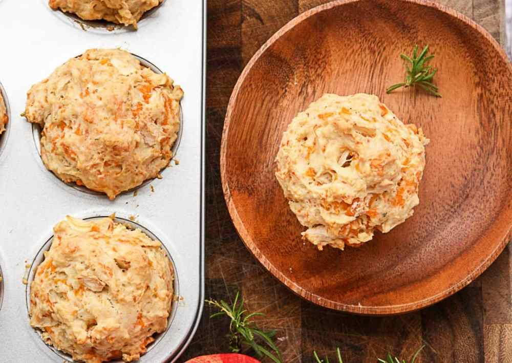 Apple Cheddar Muffins with Rosemary