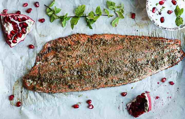 Spicy Baked Salmon Pomegranate