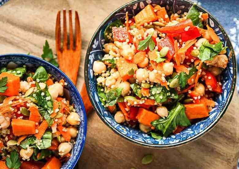 Sweet Potato Quinoa Chickpea Salad