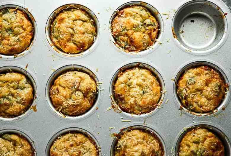 Baked Bacon & Spinach Breakfast Egg Cups