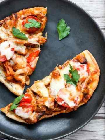 Chicken Tikka Masala Pizza on Naan