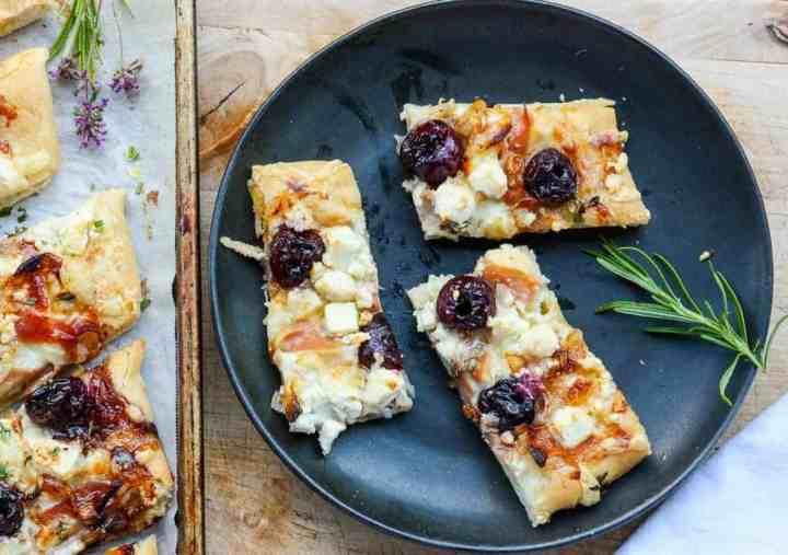 Balsamic Cherry Feta & Prosciutto Pizza