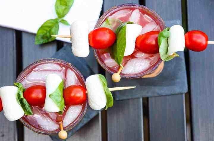 Caprese Caesar Drink