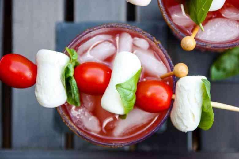 Caprese Caesar Cocktail