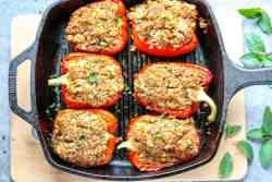 Moroccan Chicken Stuffed Peppers
