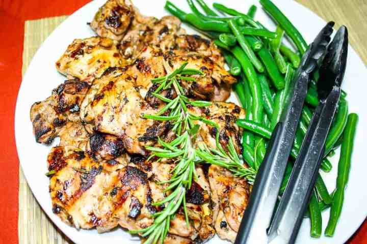 Lemon Herb Grilled Chicken Thighs