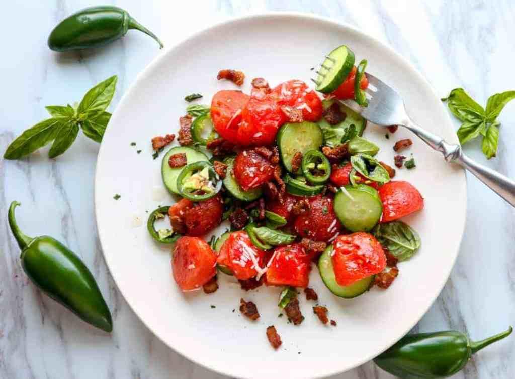 Watermelon Bacon Salad
