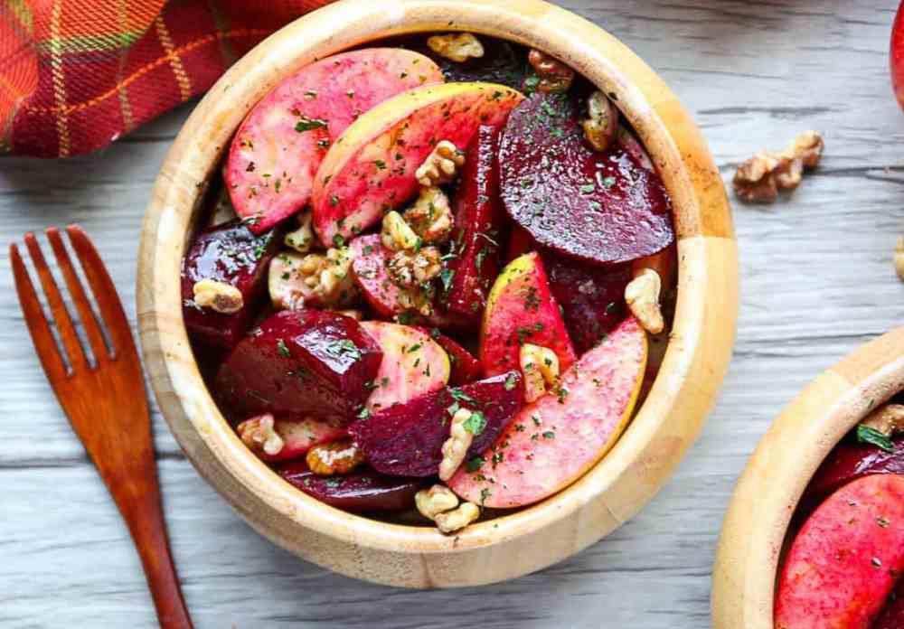Roasted Beet, Apple, Walnut Salad