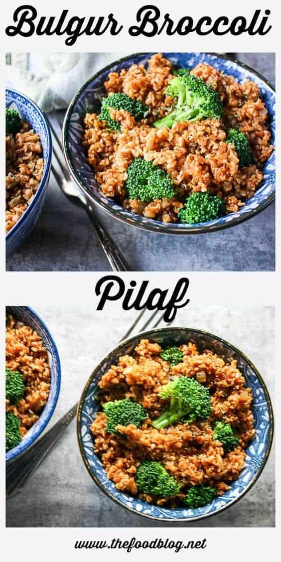 Brocolli Bulgur Pilaf