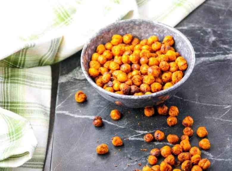 Spiced Lemon Roasted Chickpeas