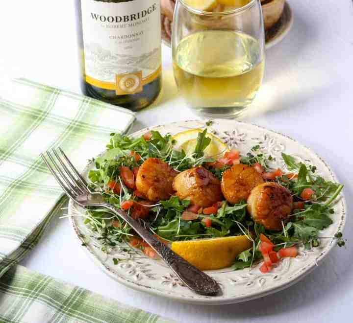 Pan Seared Scallops with Chardonnay Butter Sauce