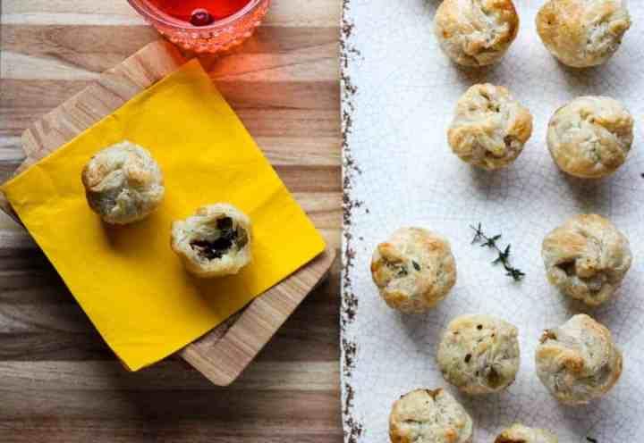 Mushroom Pastry Appetizers