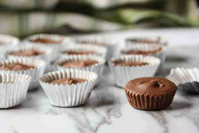 Close up of peanut butter cups