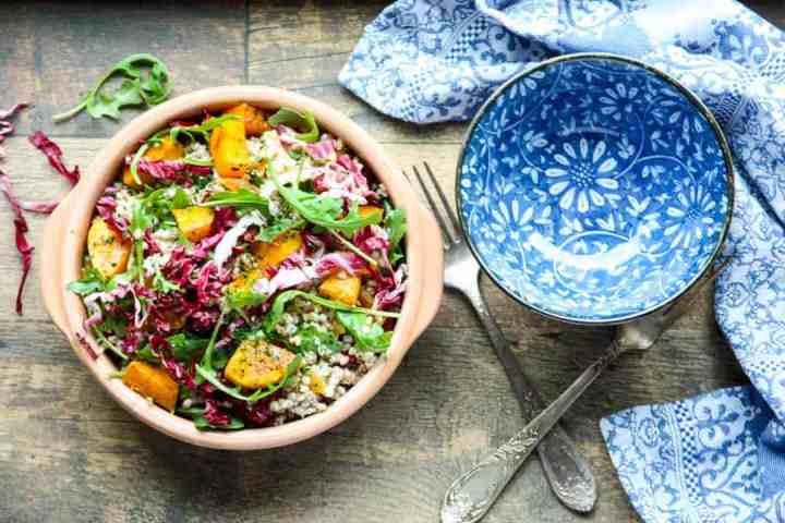 A bowl of salad, with Buckwheat and Squash