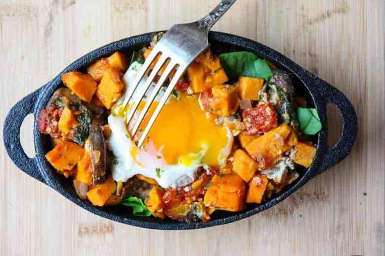 Sweet Potato Egg Skillet