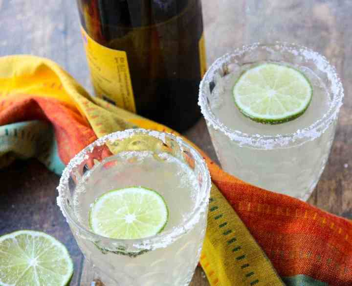 Drinks in glasses with Lime