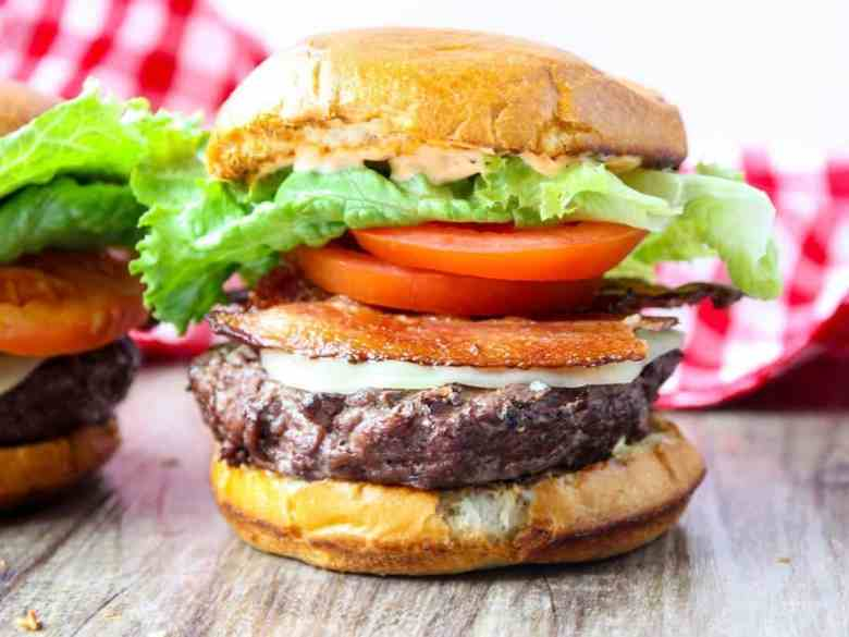Grilled Chipotle BLT Burgers