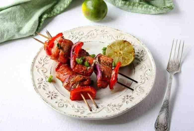 Grilled Asian Salmon Kebabs