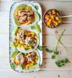 Turkey Tacos with Mango Salsa