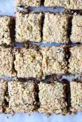 Pieces of oat squares