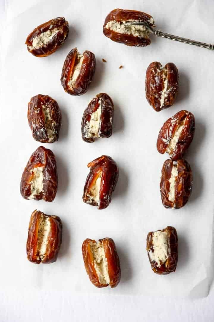 Medjool dates filled with goat cheese
