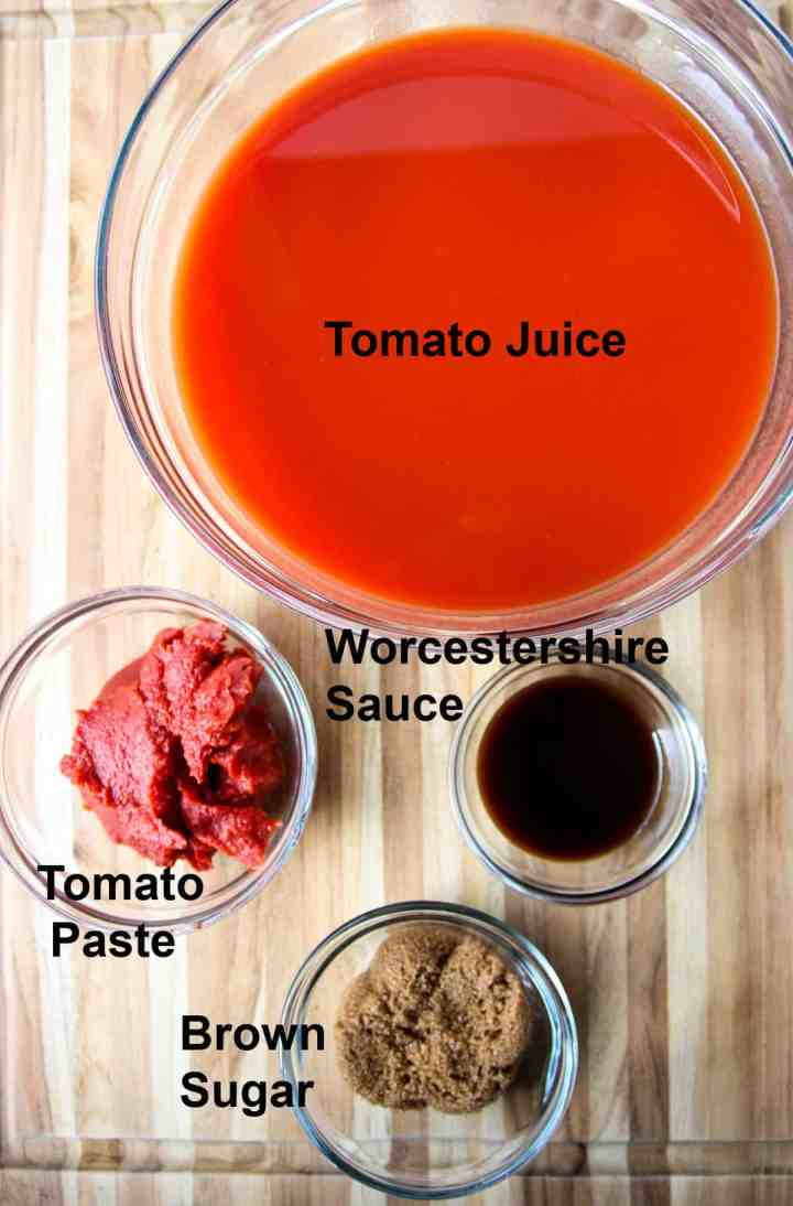 Ingredients to make the sauce.