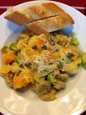 Butternut Squash Brussels Sprouts Gnocchi