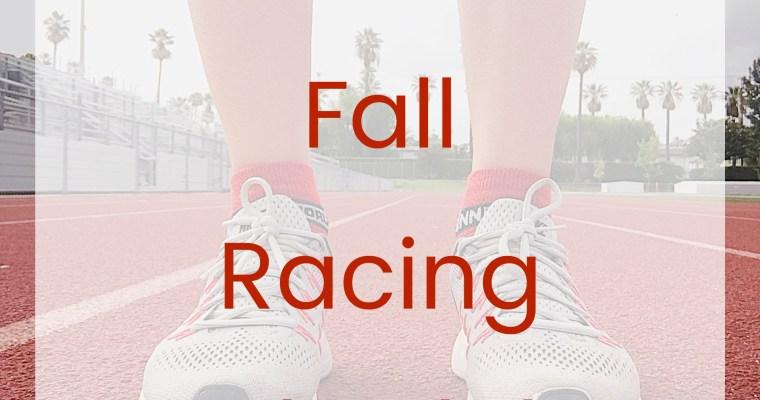 Tentative 2017 Fall Racing Schedule