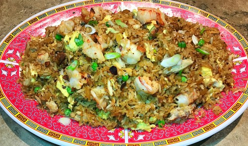 crab and shrimp fried rice