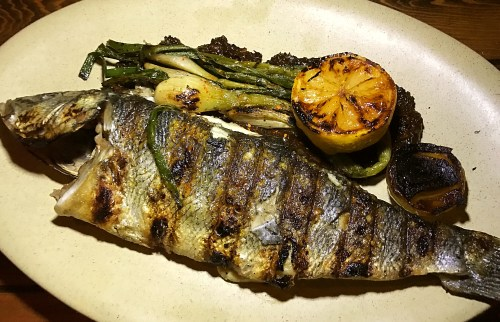 campfire grilled fish