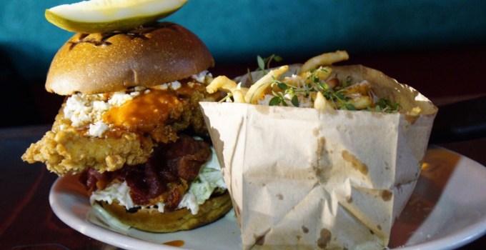 Flying Pig Pug & Kitchen fried chicken sando