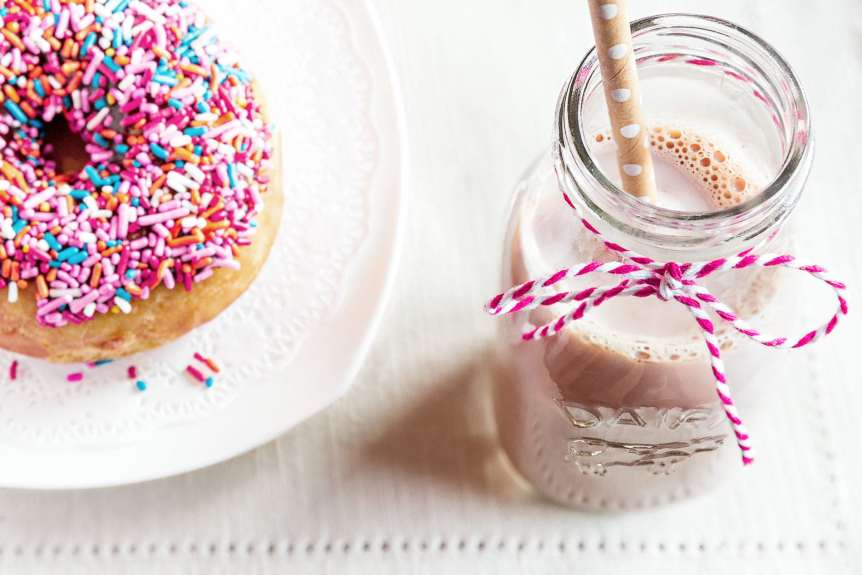 commercial food, food photography, advertising, restaurant, editorial, cookbooks, cook books, table top, food styling, prop styling, lifestyle, kids, donut, chocolate milk, Terri Glanger Lifestyle Food Photography