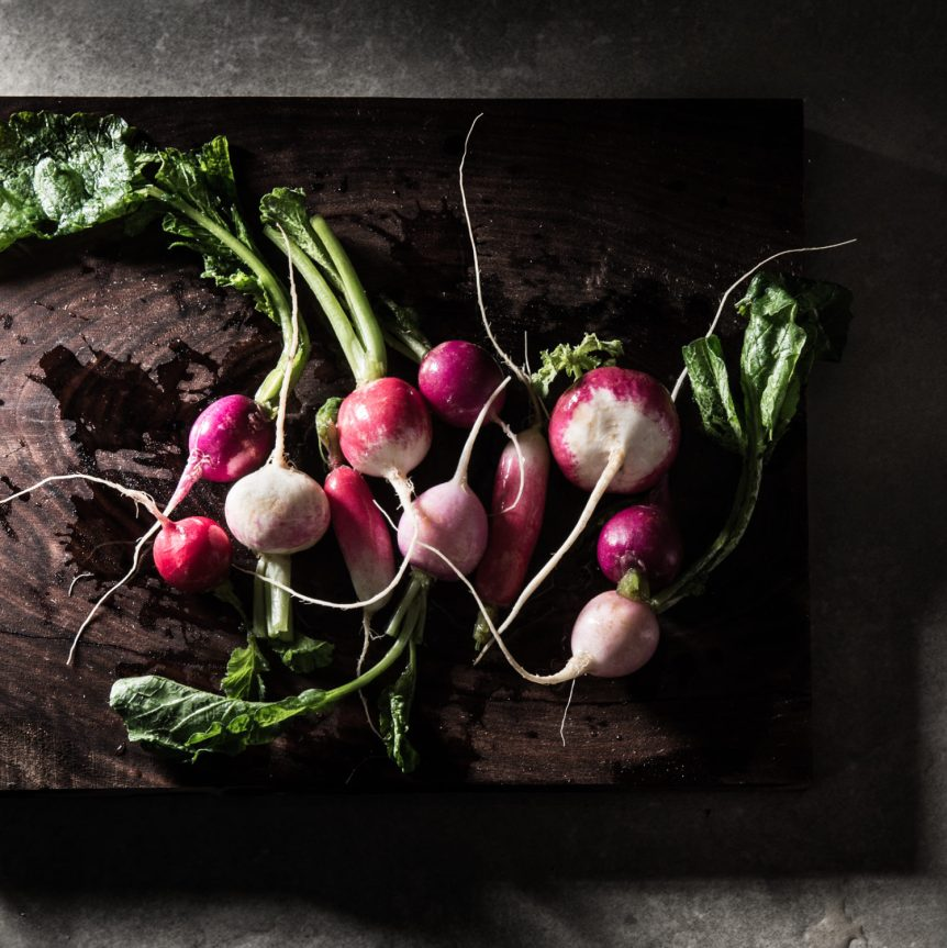 Manny Rodriguez Still Life Photography, commercial food, food photography, advertising, restaurant, editorial, cookbooks, cook book, radishes