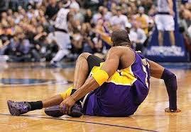 basketballer with injury